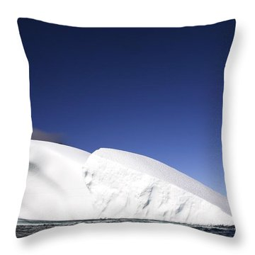 Iceberg In Canadian Arctic Throw Pillow by Richard Wear