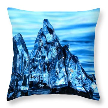 Iceberg River Throw Pillow