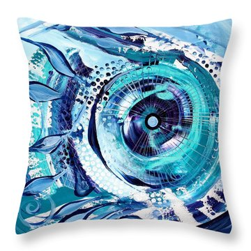 Icehole Fish Throw Pillow