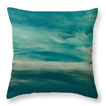 Icelandic Sky Throw Pillow by Michael Canning