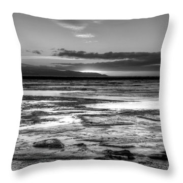 Throw Pillow featuring the photograph Icy Bay At Sunset by Michele Cornelius