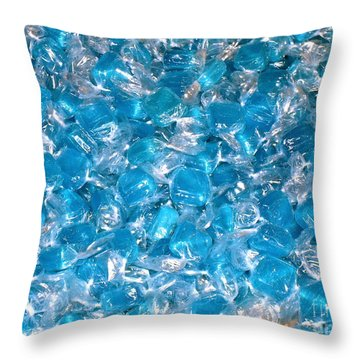Ice Blues Throw Pillow by Beth Saffer