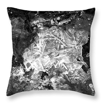 Throw Pillow featuring the photograph Icy Road by Chalet Roome-Rigdon