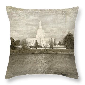 Idaho Falls Temple  Throw Pillow