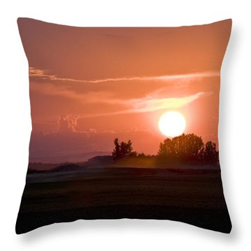 Idaho Sunset Throw Pillow