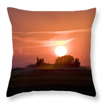 Idaho Sunset Throw Pillow