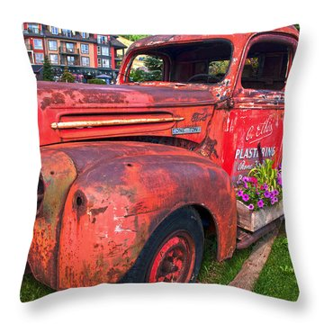 If You Cant Drive It Anymore   Turn It Into A Planter Throw Pillow