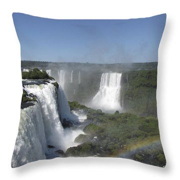 Throw Pillow featuring the photograph Iguazu Falls by David Gleeson