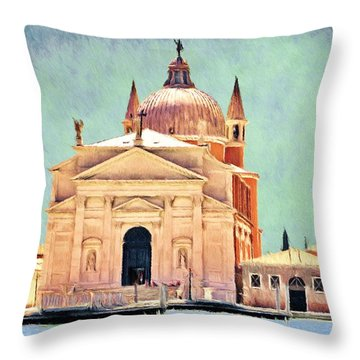 Il Redentore Throw Pillow by Jeffrey Kolker