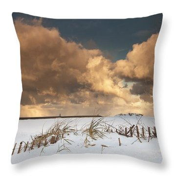 Illuminated Clouds Glowing Above A Throw Pillow by John Short