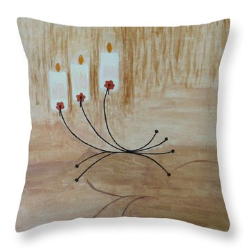 Throw Pillow featuring the painting Illumination by Sonali Gangane