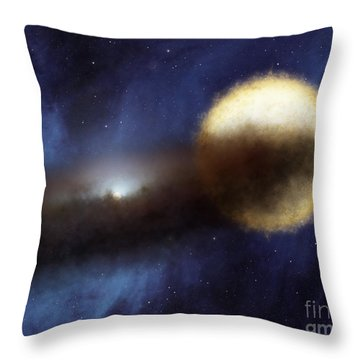 Illustration Of A Bright Star Called Throw Pillow by Stocktrek Images
