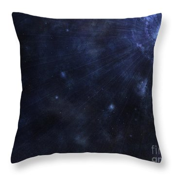 Illustration Of A Bright Star In Outer Throw Pillow