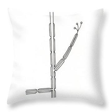 Illustration Of Motor Neuron Throw Pillow