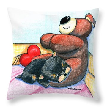 I'm Glad We Are Friends Throw Pillow