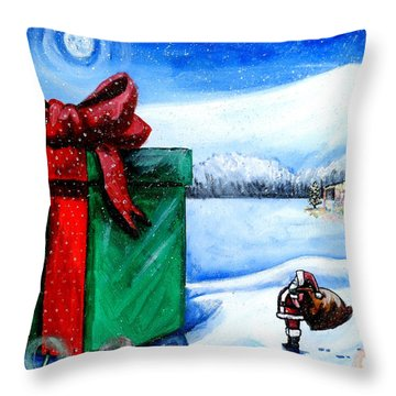 I'm Going To Need A Bigger Sleigh Throw Pillow by Shana Rowe Jackson
