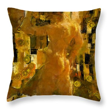 I'm Waiting For You    Male Throw Pillow by Kurt Van Wagner