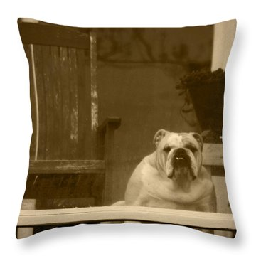 I'm Waiting For You Throw Pillow by Kym Backland