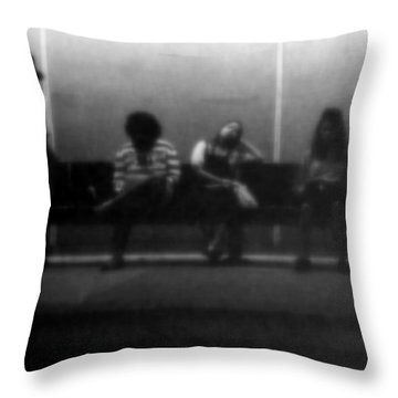 Images Of Waiting Throw Pillow