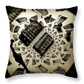 Imaginary Guitar Throw Pillow by Chris Berry