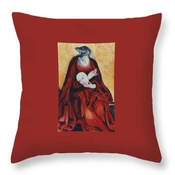 Imitation Of Art Throw Pillow