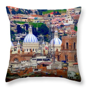 Immaculate Conception Domes II Throw Pillow by Al Bourassa