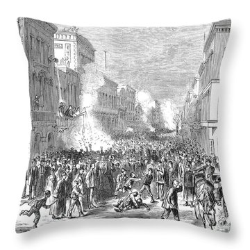 Immigrants: Chinese, 1871 Throw Pillow by Granger