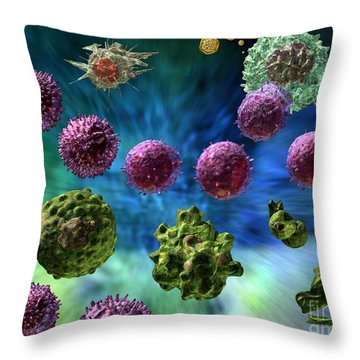 Immune Response Cytotoxic 1 Throw Pillow