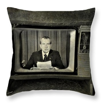 Impeached Network  Throw Pillow by Empty Wall