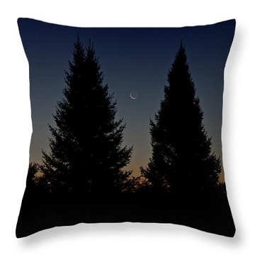 Throw Pillow featuring the photograph Impending Sunrise by Penny Meyers