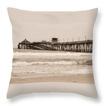 Throw Pillow featuring the photograph Imperial Beach by Rima Biswas