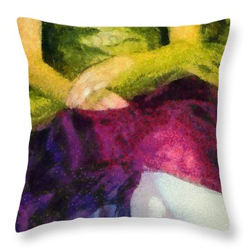 Impression Of A Ballerina Lap Throw Pillow by Angelina Vick