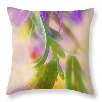 Impression Of Asters Throw Pillow by Judi Bagwell