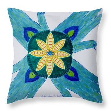 Throw Pillow featuring the painting Impression by Sonali Gangane