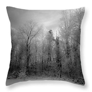 Impressionist Snow Throw Pillow