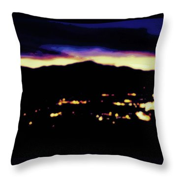 Impressionistic Pikes Peak Throw Pillow by Clarice  Lakota