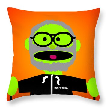 Improv Puppet Throw Pillow by Jera Sky