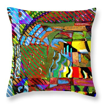 Improvisation Throw Pillow by Mindy Newman