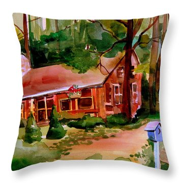 In A Cottage In The Woods Throw Pillow