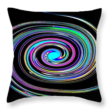 Throw Pillow featuring the photograph In A Whirl by Steve Purnell