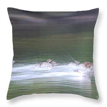In Action Throw Pillow