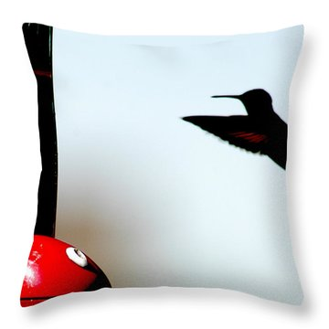 Throw Pillow featuring the photograph In Flight by Wanda Brandon