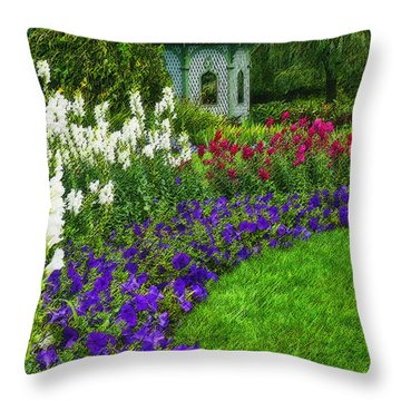 Throw Pillow featuring the photograph In Full Bloom by Cindy Haggerty