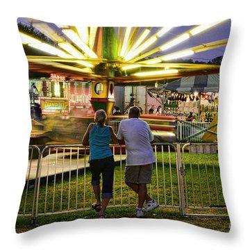 In Love At The Fair Throw Pillow by Paul Ward