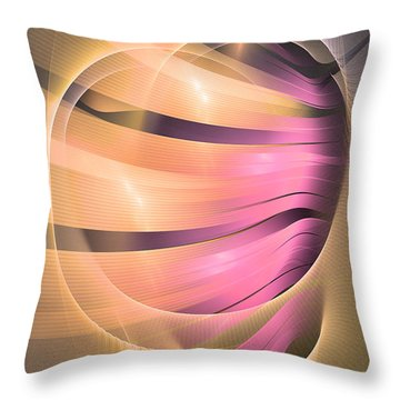 In Medias Res -abstract Art Throw Pillow