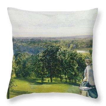 In Richmond Park Throw Pillow