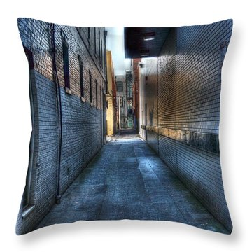 In The Alley Throw Pillow by Dan Stone