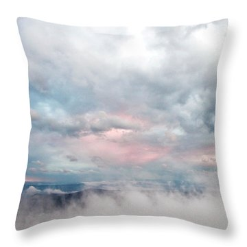 In The Clouds Throw Pillow by Jeannette Hunt