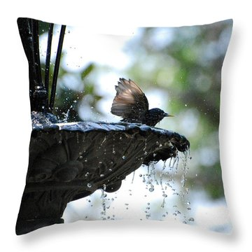 Throw Pillow featuring the photograph In The Cool Of The Morning #2 by Linda Cox