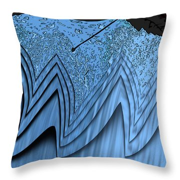 In The Eye Of The Storm 3 Throw Pillow by Tim Allen
